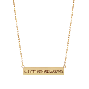 Yellow Gold Nameplate Necklace
