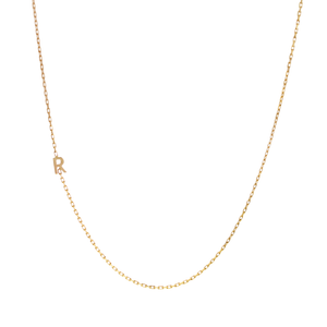 Yellow Gold Solid Letter Necklace