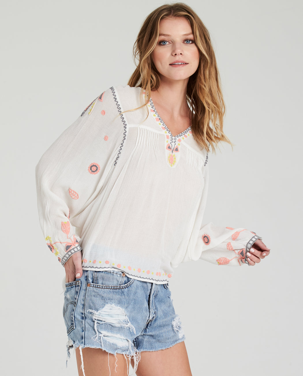 Bella Embroidered Blouse