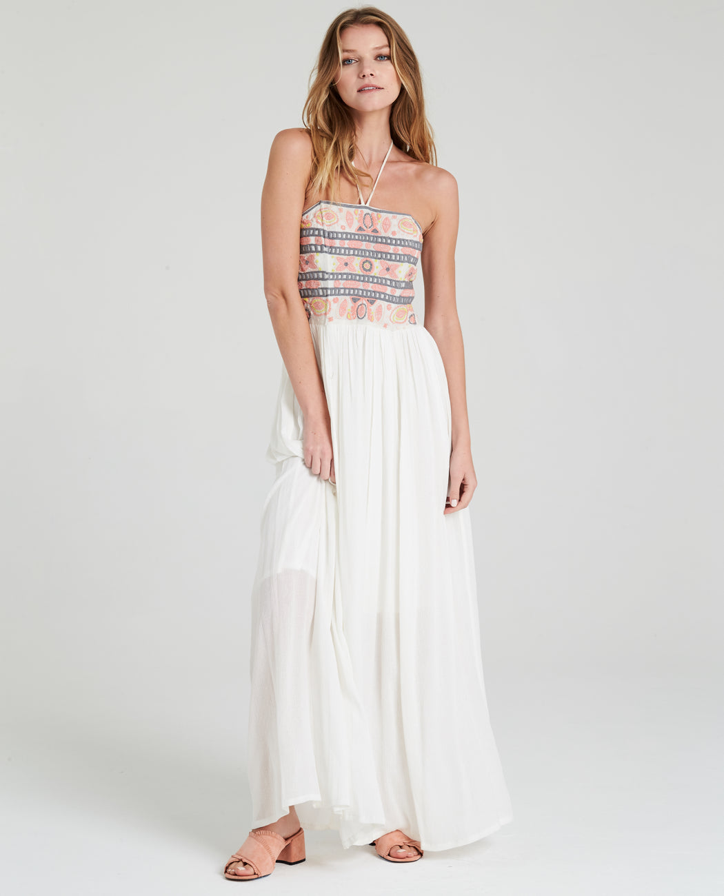 Bella Embroidered Maxi Dress