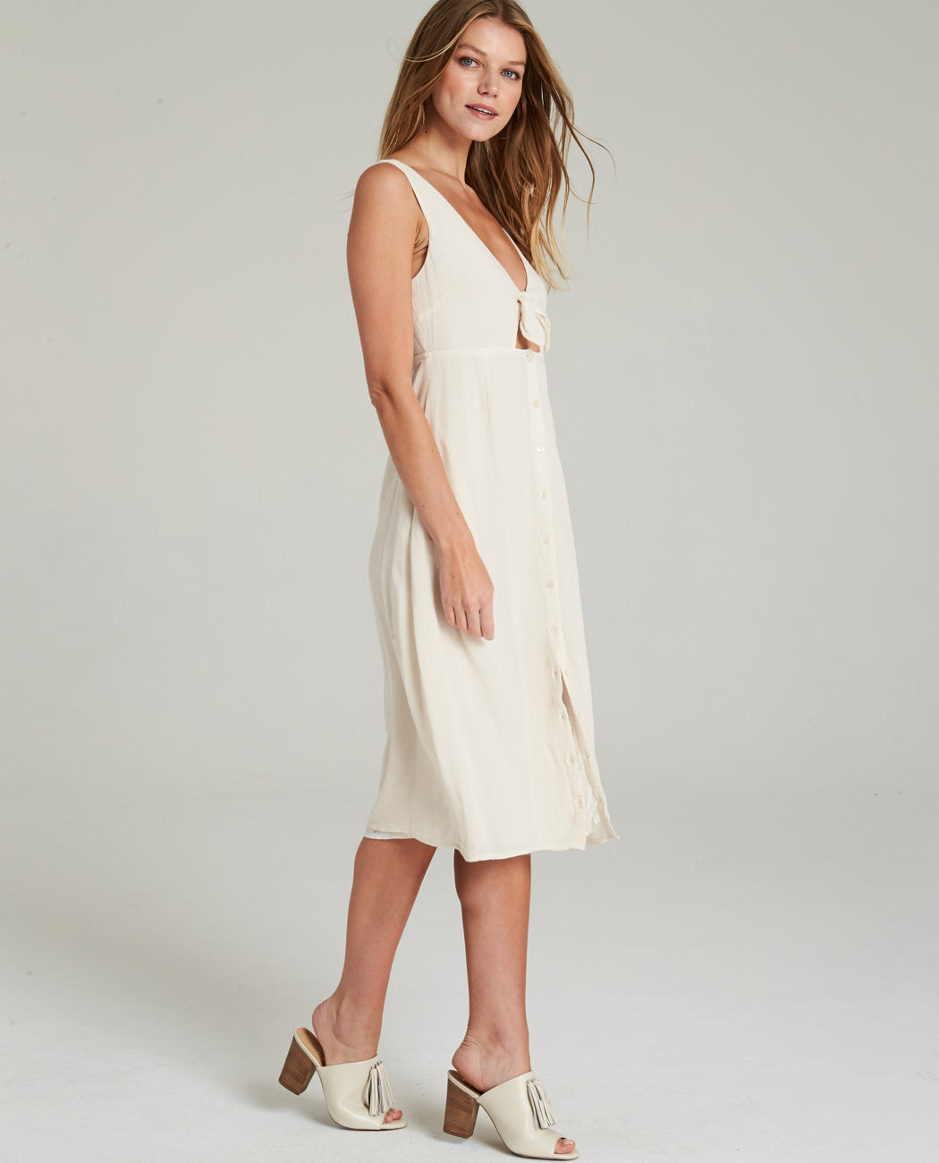 Gypsy05 Ameri Button Down Midi Dress