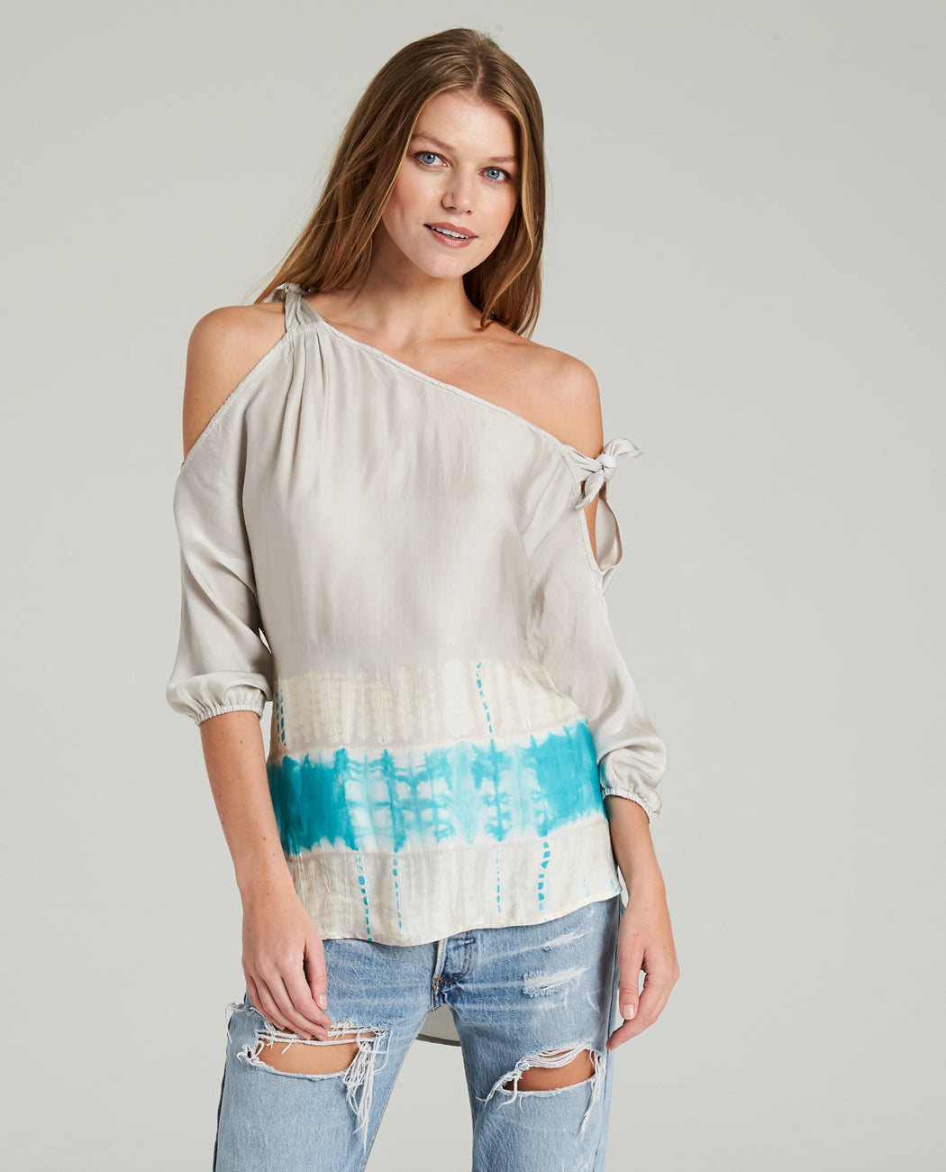 AMERI ASYMMETRICAL TIE TOP