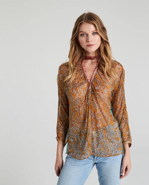BROOKS CHOKER BLOUSE
