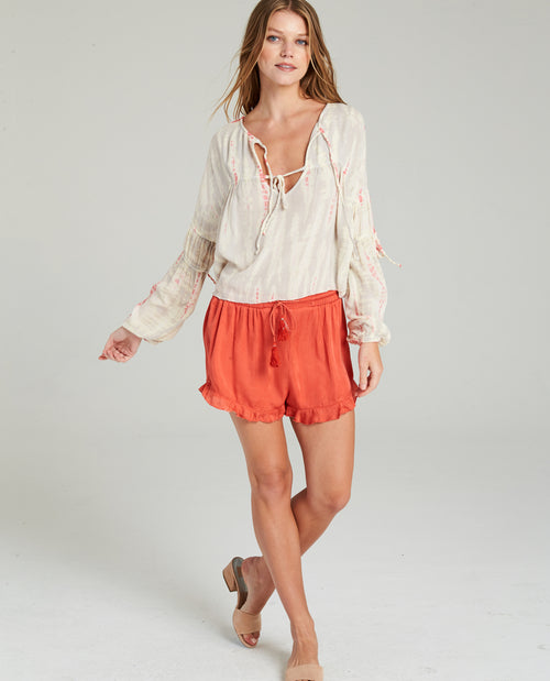 AMERI DROPPED SHOULDER BLOUSE