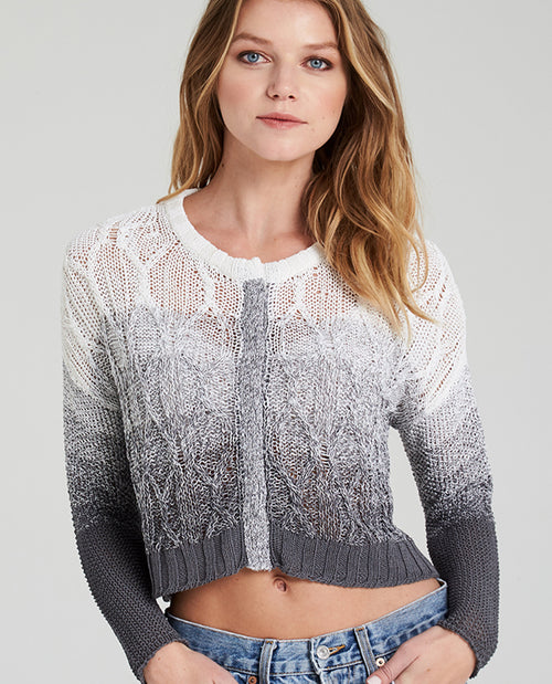 ELLA CROPPED OMBRE SWEATER