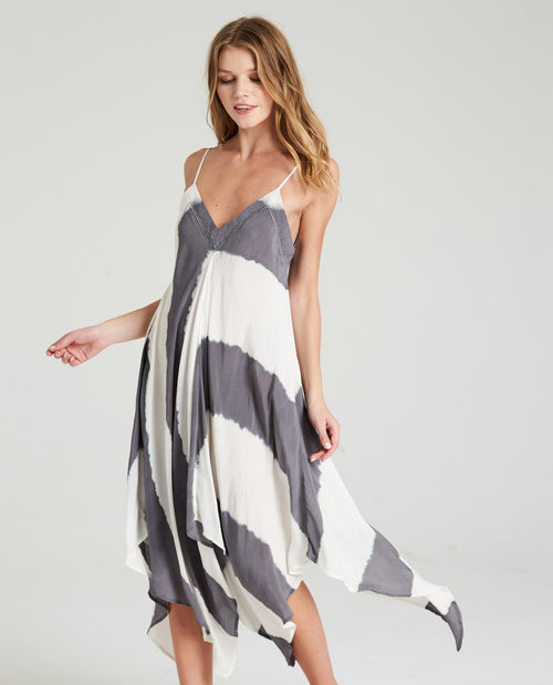 JULIE SHARKBITE MIDI DRESS