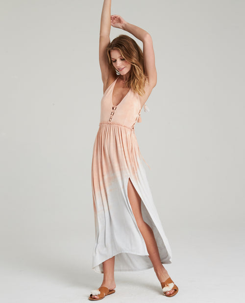 KAI HALTER MAXI DRESS