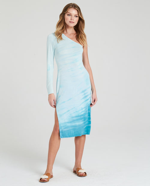 KAI ASYMMETRICAL MIDI DRESS
