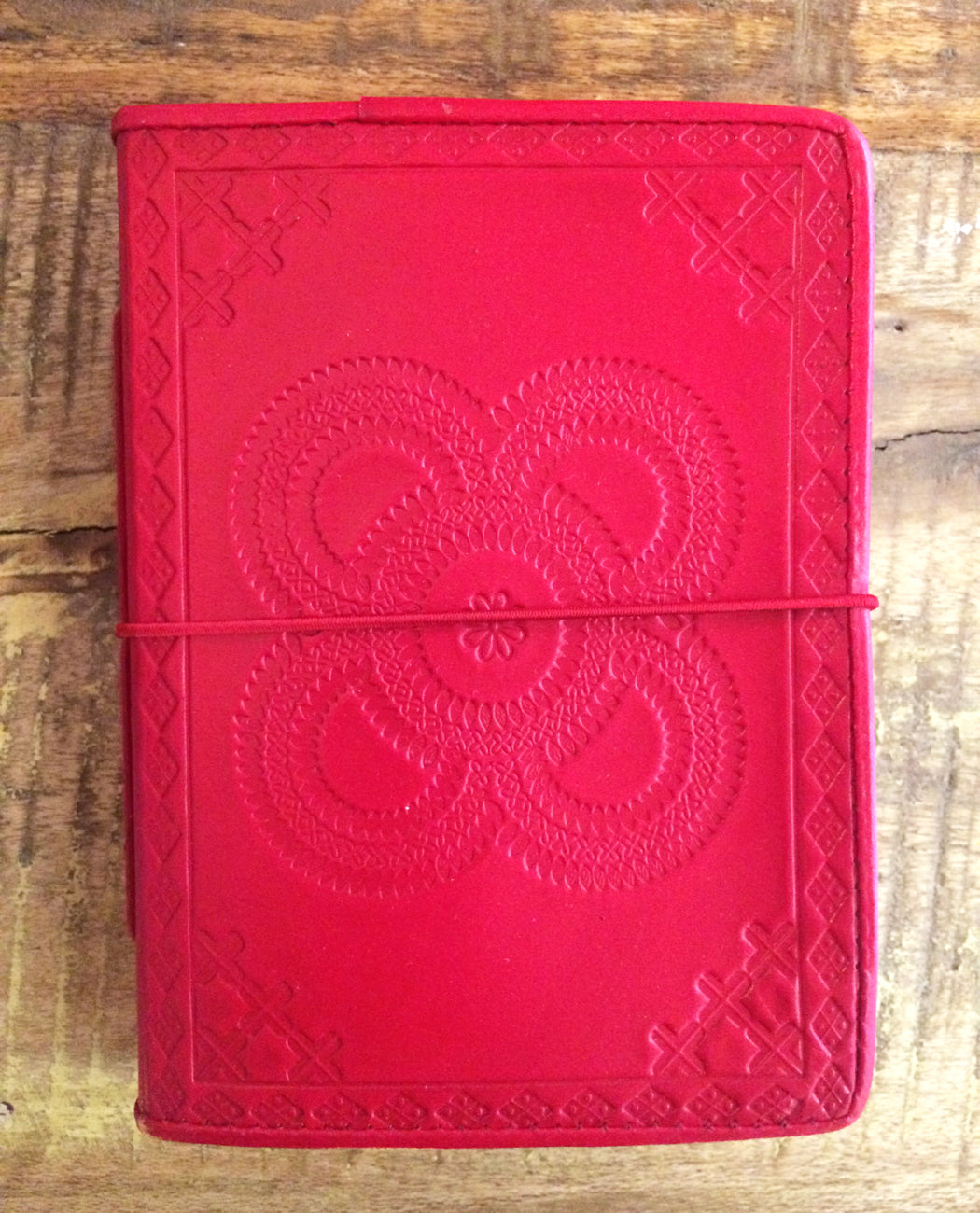 Red leather Journal