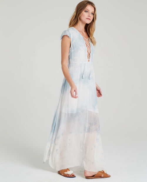 LILJA LACEUP MAXI DRESS