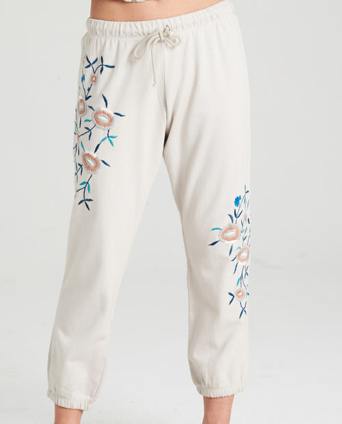 Rose Embroidered Joggers