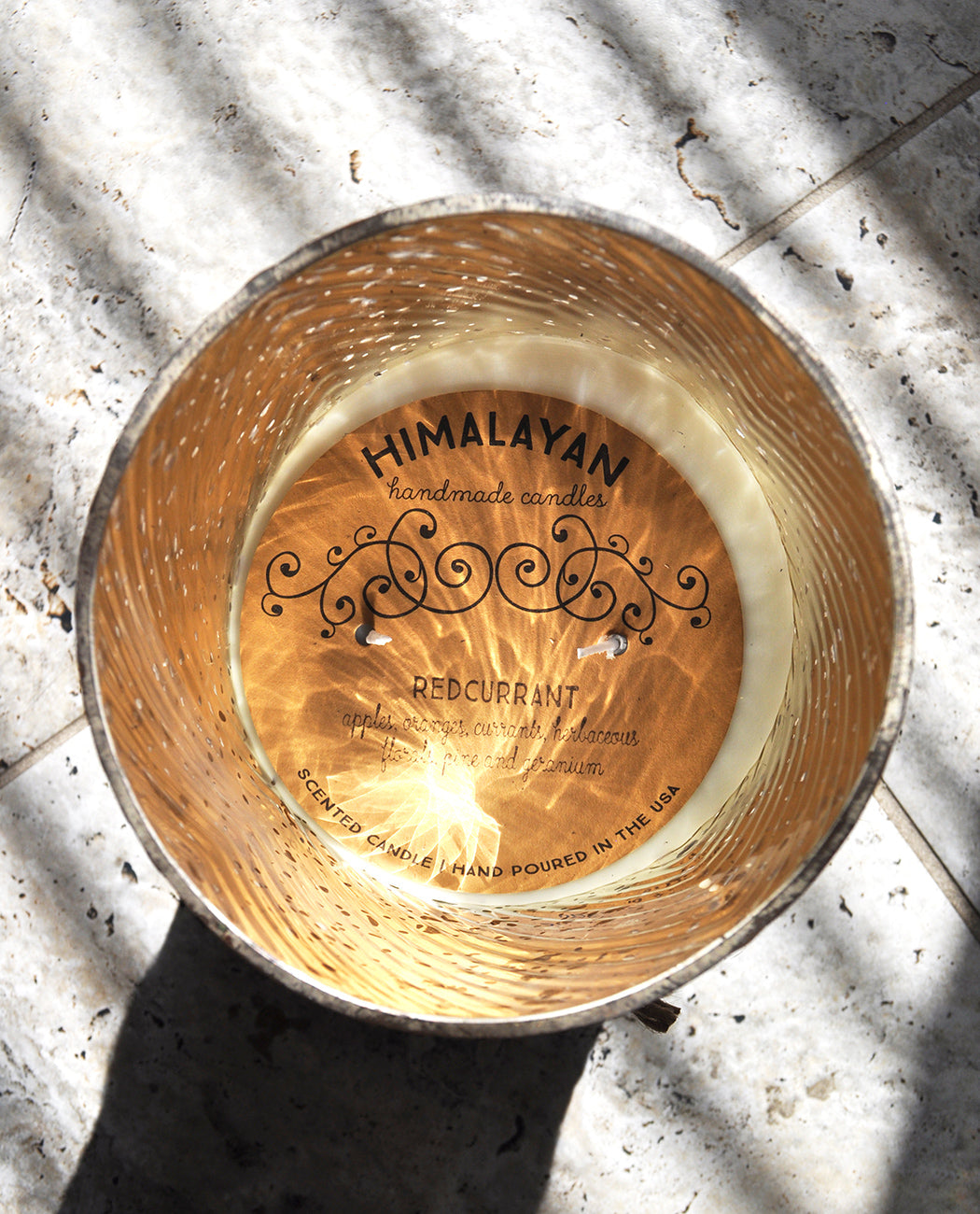 Himalayan Trading Post Rose Gold Hurricane Candle