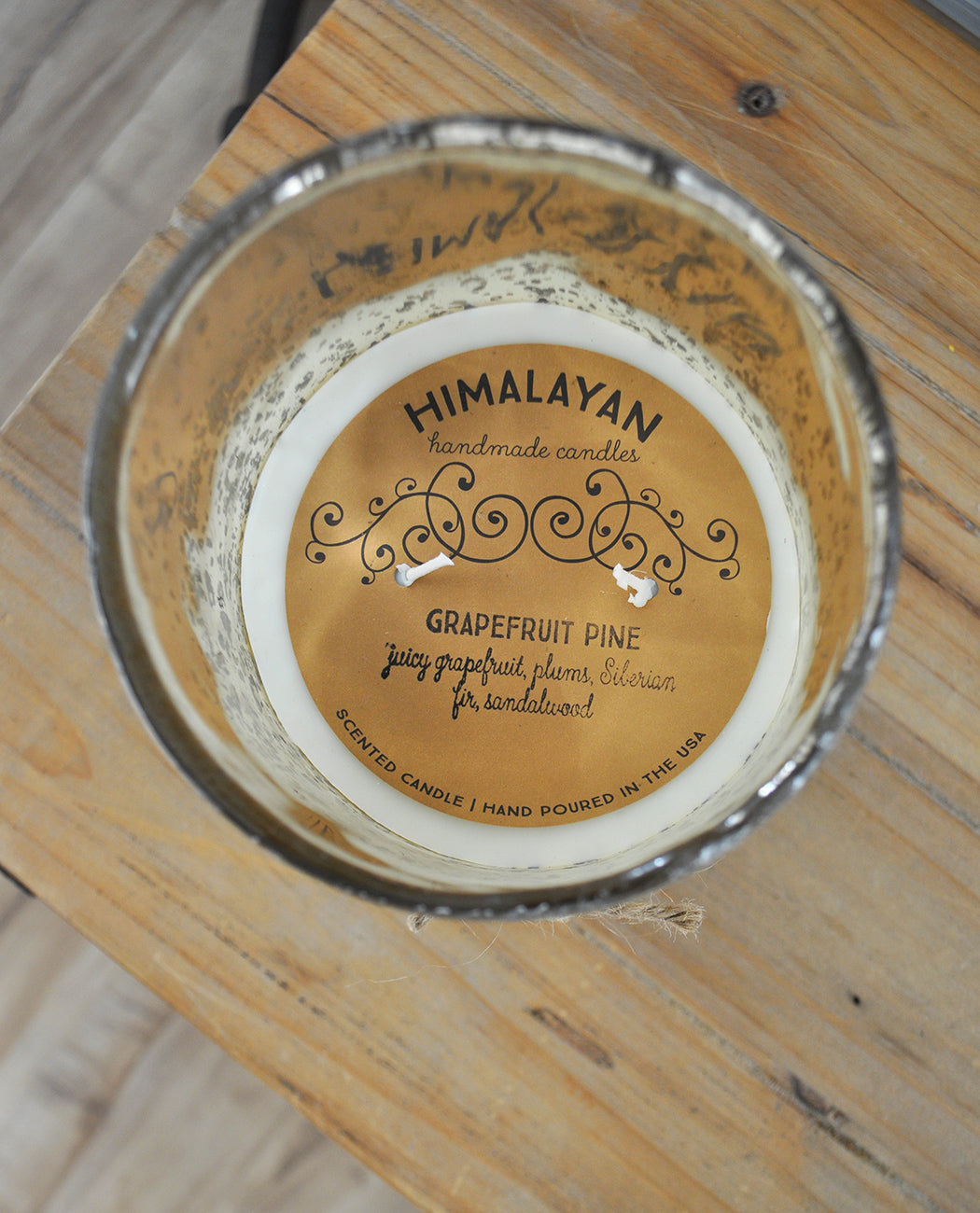 HIMALAYAN TRADING POST MATTE GOLD HURRICANE CANDLE