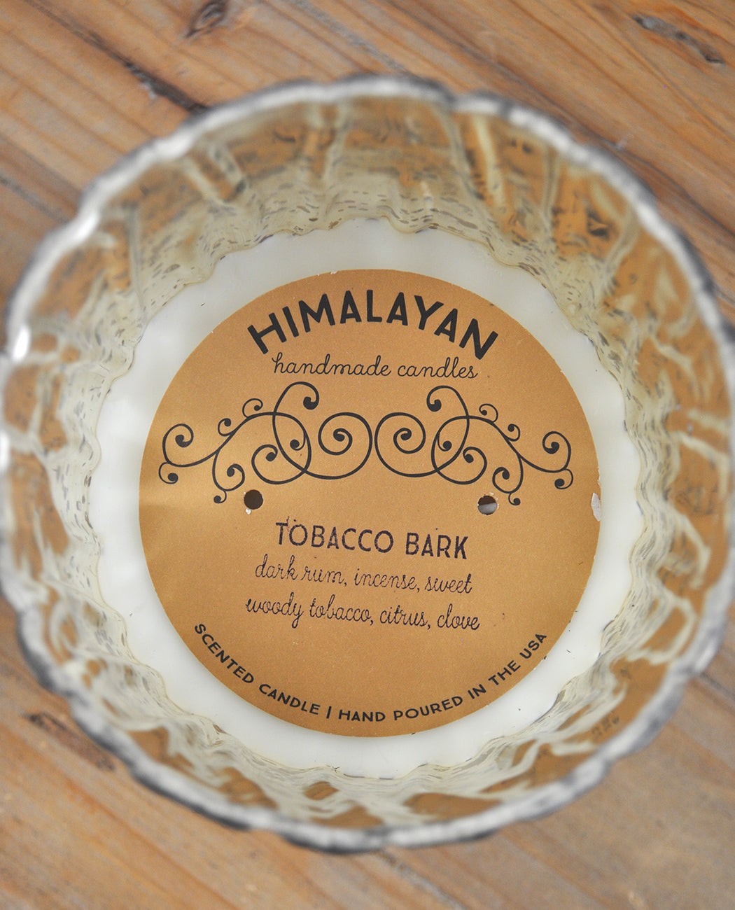 HIMALAYAN TRADING POST TREE BARK CHAMPAGNE FINISH CANDLE