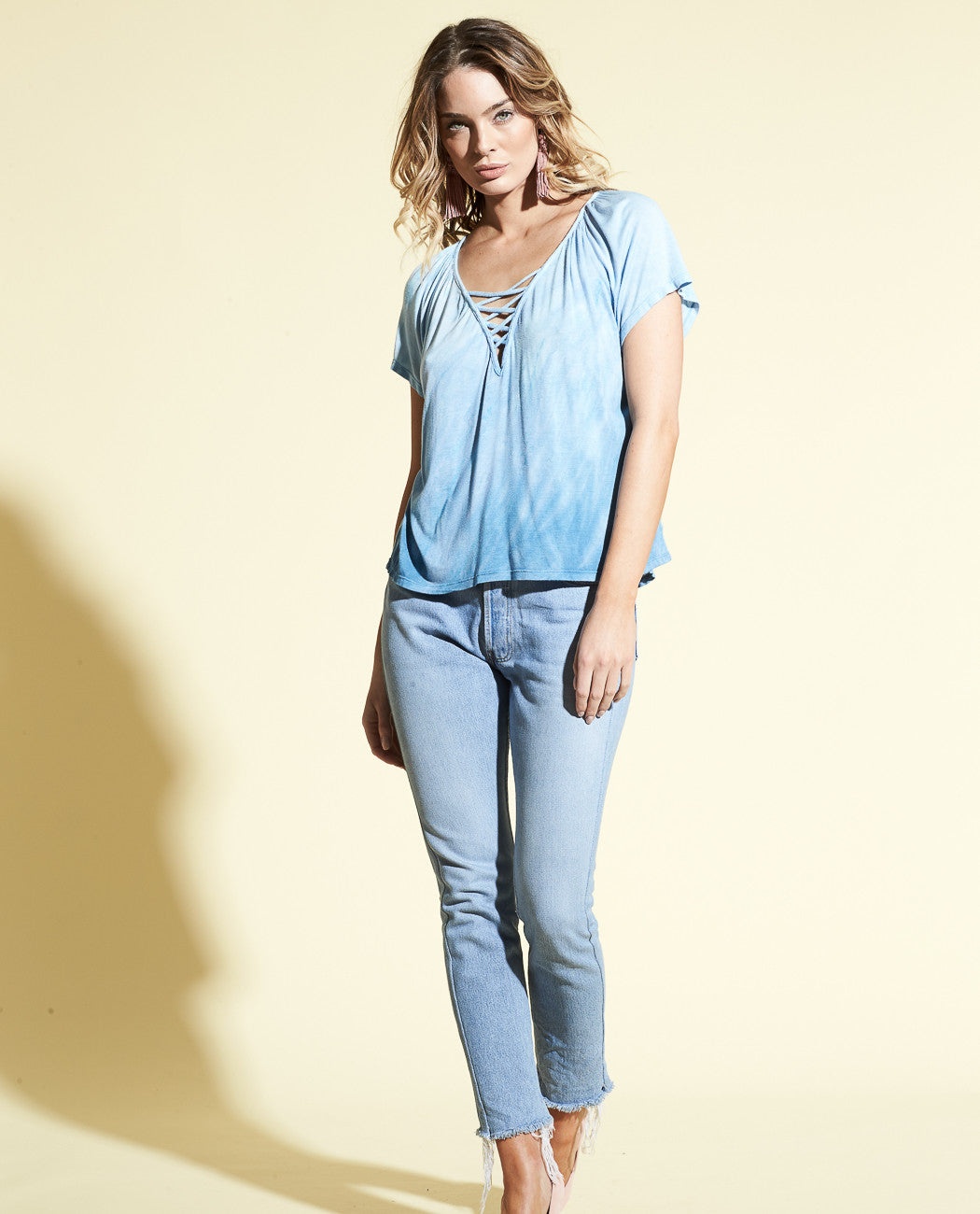 MIRA  EASY LACE UP TOP