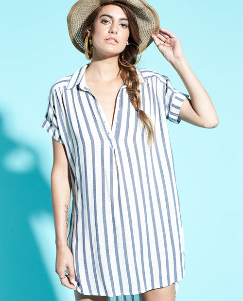 SAILOR DOLMAN SHIRT DRESS
