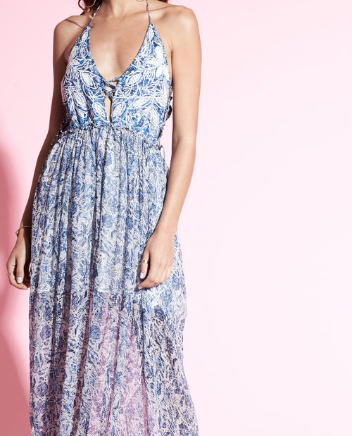 IRVING HALTER MAXI DRESS