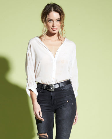 SARAI BUTTON DOWN BLOUSE
