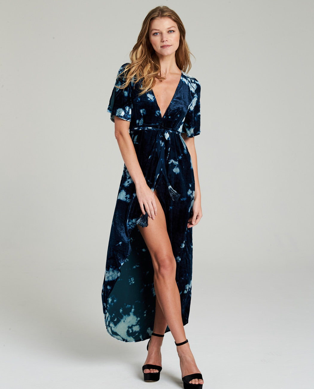 HARPER TULIP VELVET MAXI DRESS