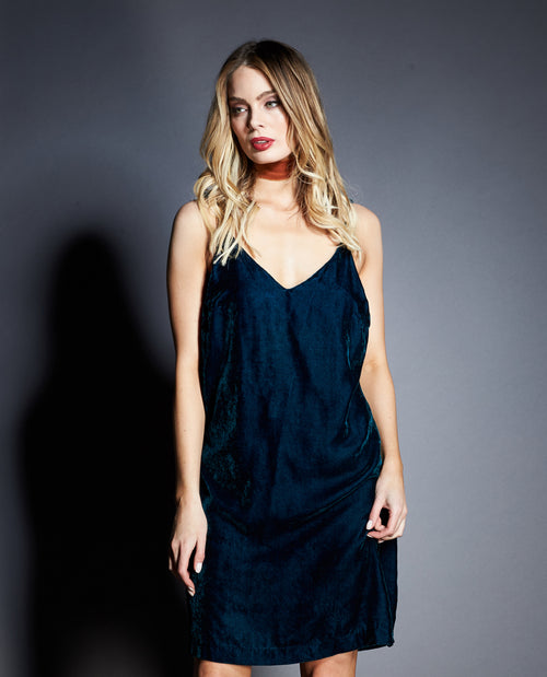 HARPER VELVET SLIP DRESS
