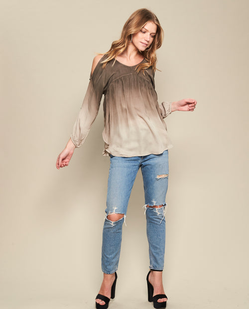 LORI OPEN SLEEVE BLOUSE