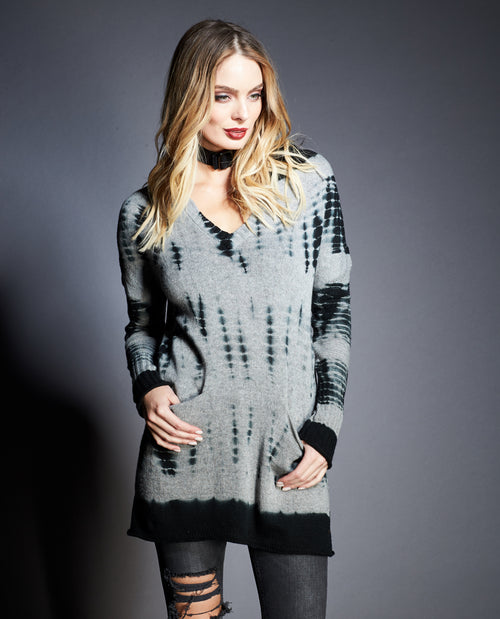 MALIA HOODED SWEATER DRESS