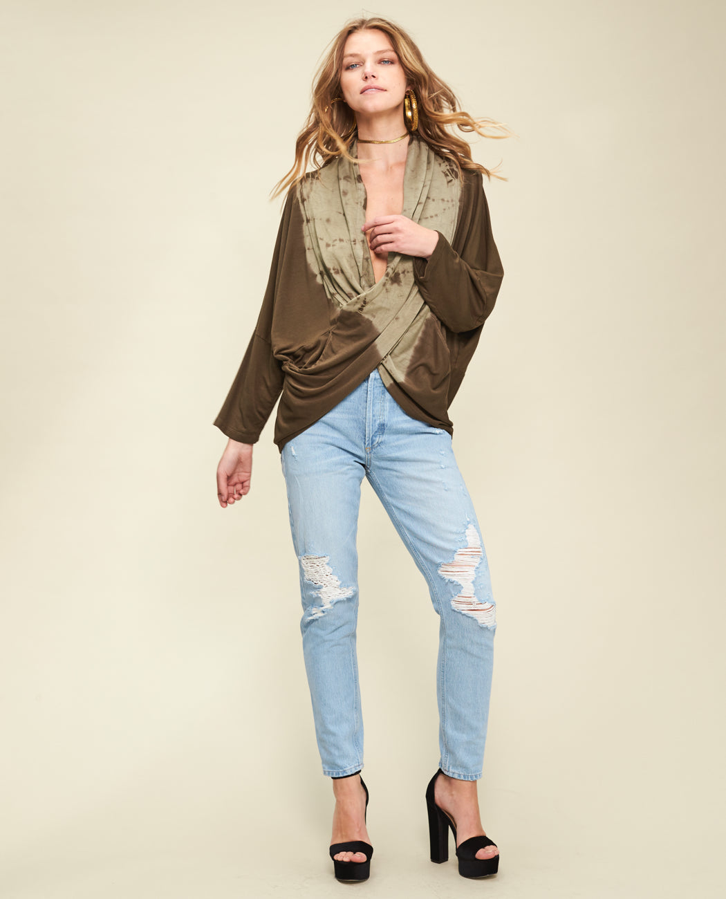 LIA WRAPPED LOUNGE PONCHO