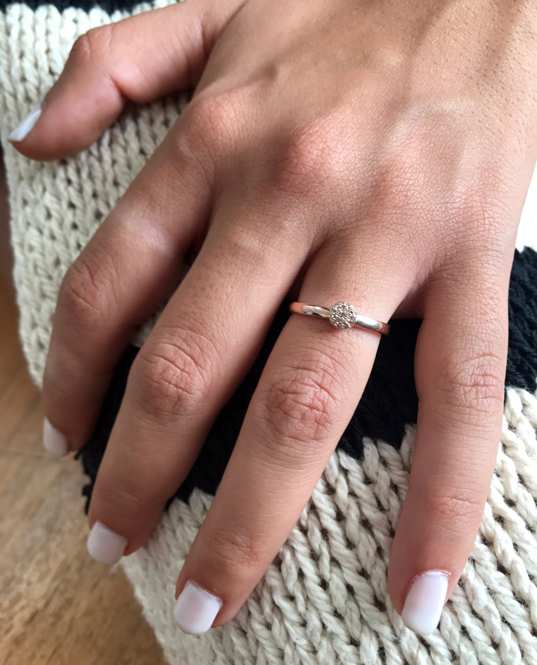 Diamond Circle Ring Set