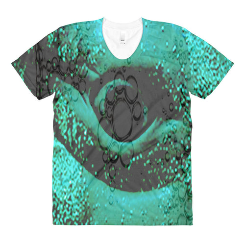 All over Whale women's crew neck Tee