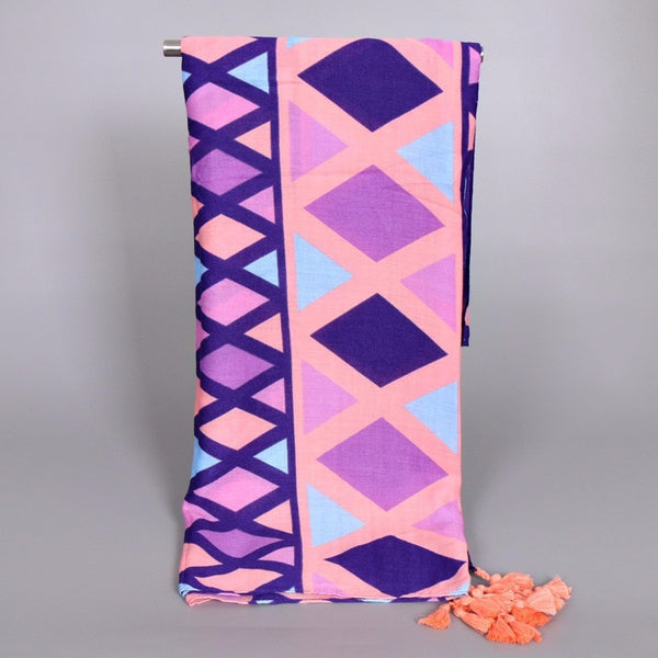Pink and Purple Geometric Design