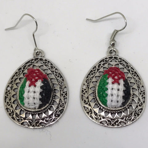 Palestinian Flag Earrings
