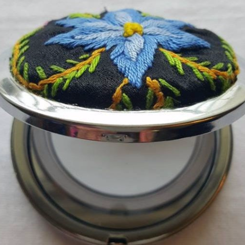 Palestinian Embroidery Compact Mirrors