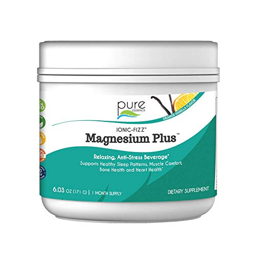Pure Essence Labs Ionic-Fizz Magnesium Plus Mineral Supplement, Orange, Vanilla, 6.03 oz