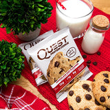 Quest Nutrition Protein Cookie, Chocolate Chip, 15g Protein, 4g Net Carbs, 250 Cals, 2.08oz Cookie, 12 Count, High Protein, Low Carb, Gluten Free, Soy Free