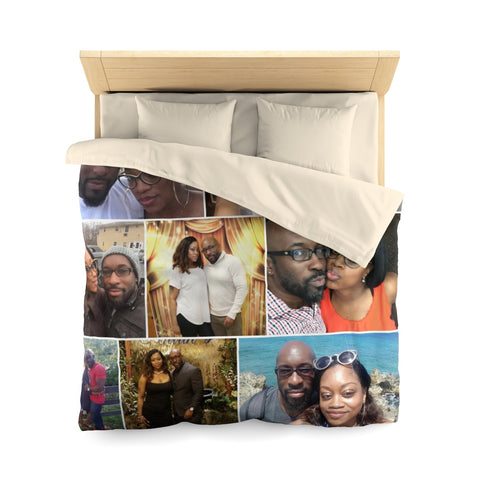 Photo Collage Microfiber Duvet Cover