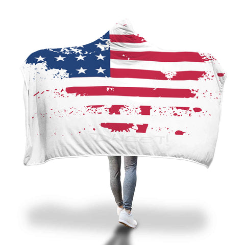 U.S.A Patriotic Custom Designed Hooded Blanket