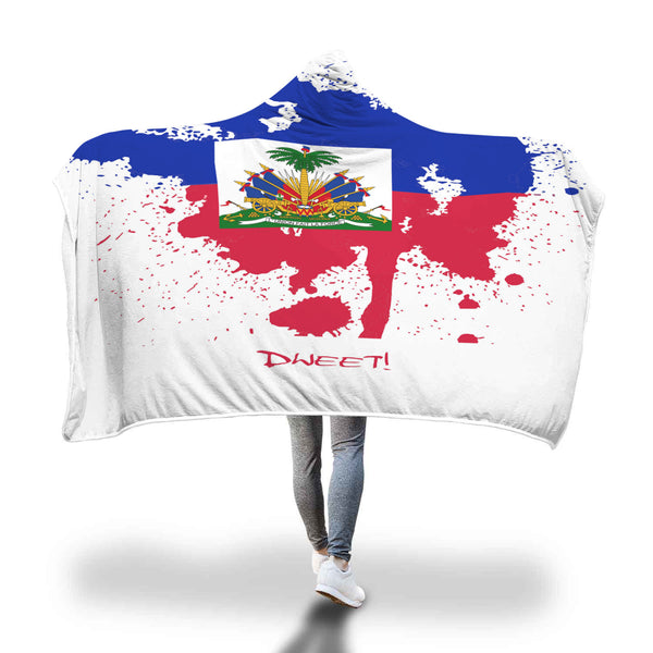 Haitian Patriotic Hooded Blanket