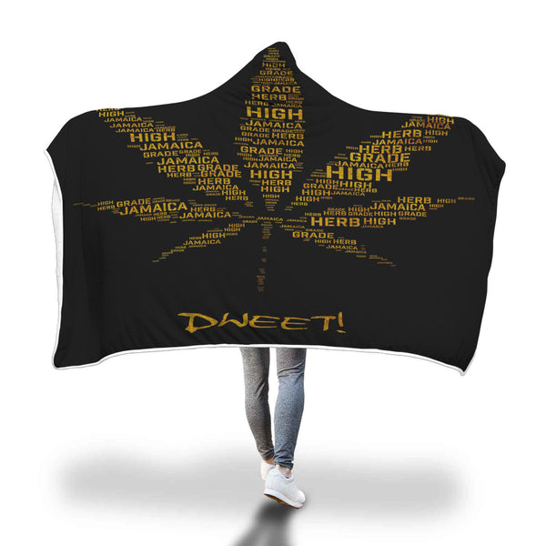 Jamaican High Grade Weed Leaf Hooded Blanket