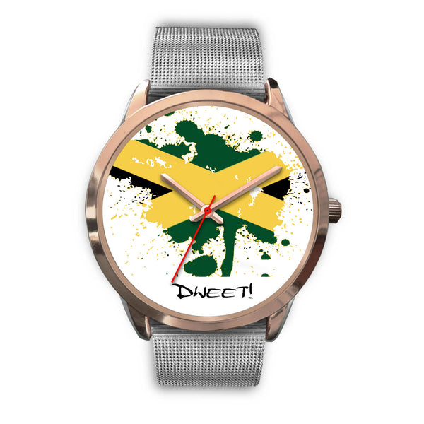 Rose Gold Jamaican Flag Splash Watch