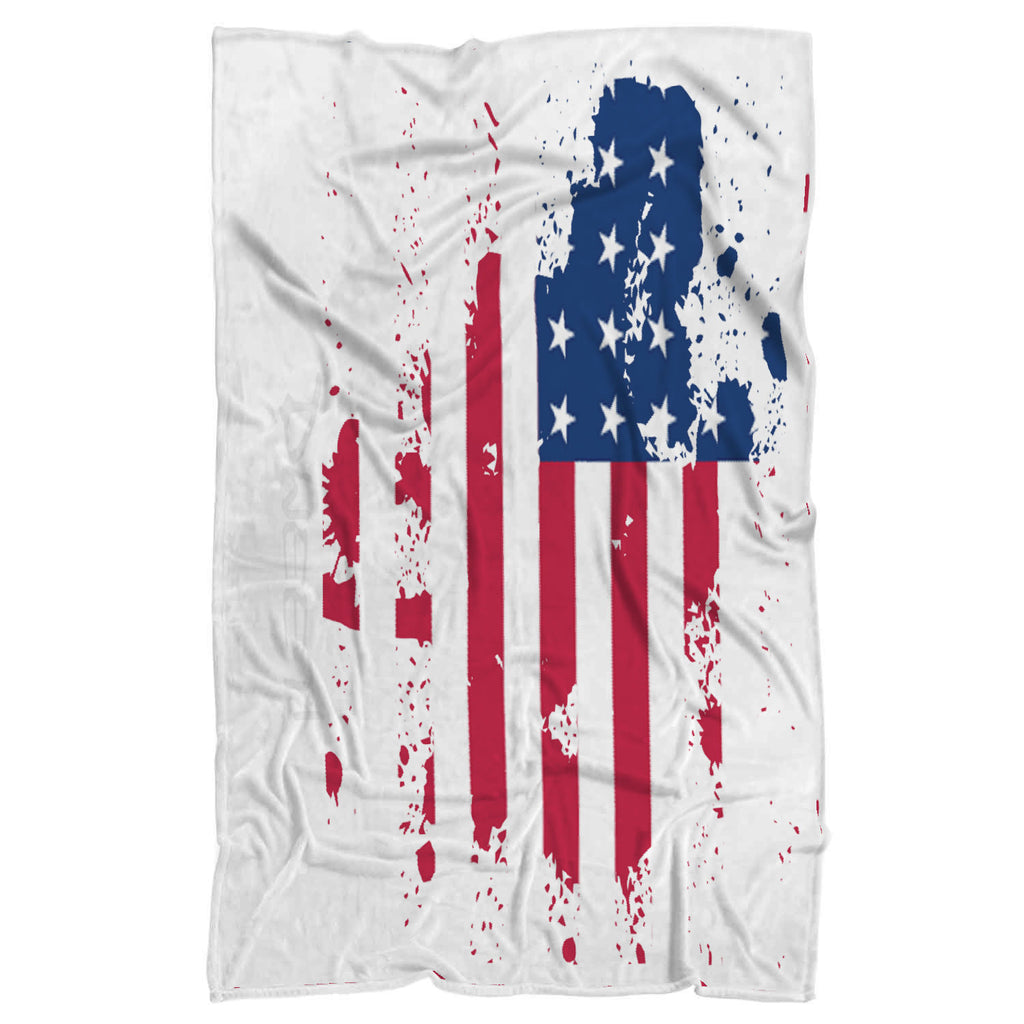 U.S.A Flag Splash Plush Blanket