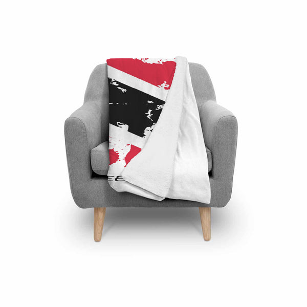 Trinidad Flag Splash Plush Blanket