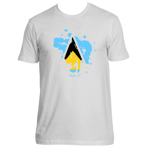 Rep your Island Saint Lucia splash T-shirt