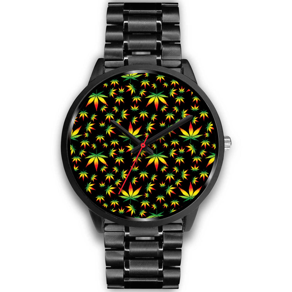 Rasta Weed Leaf Watch