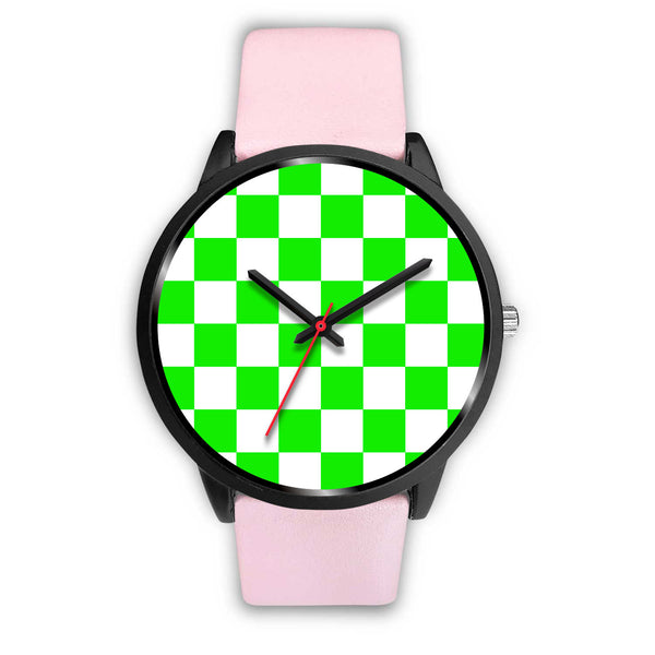 Neon Green Checker Watch