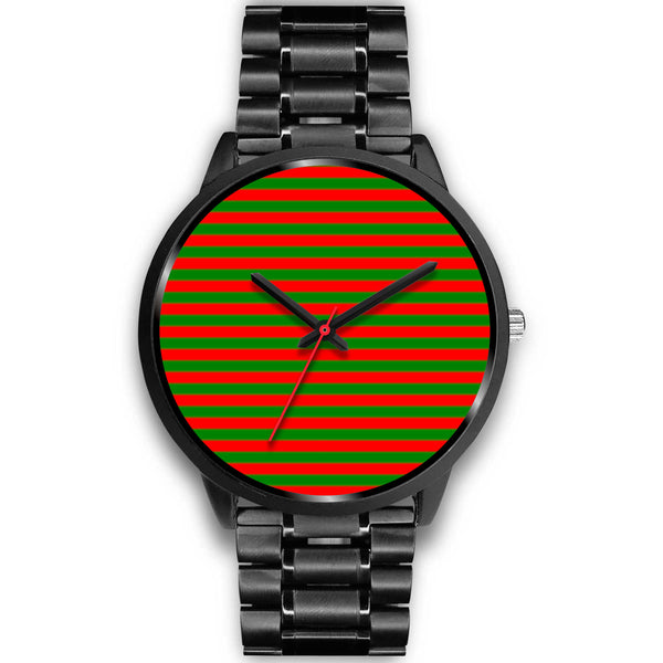 Green and Red Stripe Watch