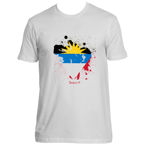 Rep your Island Antigua and Barbuda  splash  T-shirt