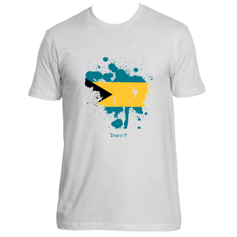 Rep your Island Bahamas  splash Flag T-shirt