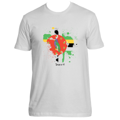 Rep your Island Dominica splash T-shirt