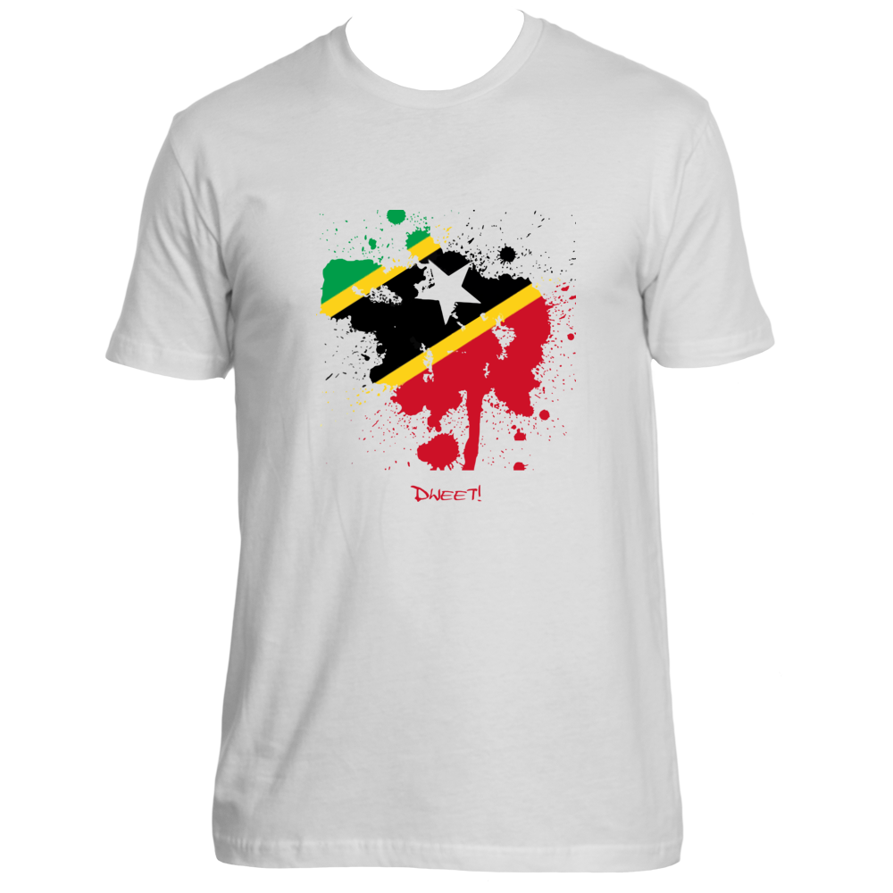 Rep your Island St Kitts & Nevis splash T-shirt