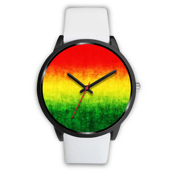 Rasta Red Green And Gold Watch